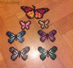 Butterflies hama perler beads by MeTaLGiNGeR