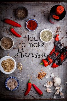 Making your own Harissa paste is so easy and will taste better than any shop-bought kind. Making your own Harissa paste is so easy and will taste better than any shop-bought kind. Sauce Dips, Sauce Recipes, Cooking Recipes, Quick Recipes, Blender Food Processor, Food Processor Recipes, Pesto, Cuisines Diy, Middle Eastern Recipes
