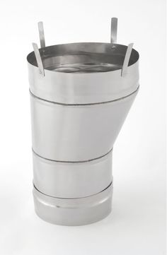 """Heat-Fab CCA16NCR16 16""""-18"""" Saf-T Vent CI+ Increaser Stainless Steel Vent Pipe AL29-4C Increaser/Reducer"""