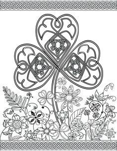 Irish Coloring Pages & Celtic Mandalas Fantasy Jr. Art