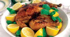 Kalkon med citron och örter Pot Roast, Turkey, Thanksgiving, Meat, Ethnic Recipes, Food, Lemon, Carne Asada, Roast Beef