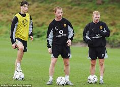 Ronaldo was given some tough treatment by the likes of Nicky Butt and Paul Scholes