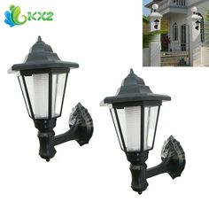 22.85$  Buy now - http://ali95a.shopchina.info/go.php?t=32745666370 - 2pcs! Outdoor LED Solar Power Light Energy Saving Super Bright Yard Garden Decoration Path Street Security Wall Hanging Lamp  #aliexpressideas