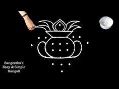 Easy And Simple Rangoli Designs Indian Rangoli Designs, Rangoli Designs Latest, Rangoli Designs Flower, Small Rangoli Design, Rangoli Ideas, Rangoli Designs With Dots, Rangoli Designs Images, Rangoli With Dots, Beautiful Rangoli Designs