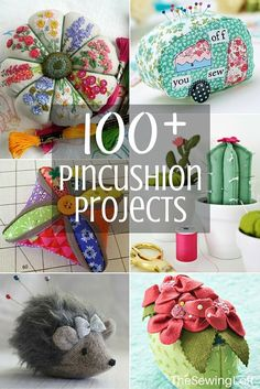 WOW, so many diy ideas on this list of over 100 pincushion projects. All patterns are free with step by step instructions. The Sewing Loft #sewing #pincushion