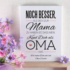 Muttertagsgeschenk merci dass es dich gibt diy mama - Leinwand mit spruch ...