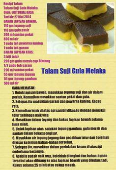 Talam suji gula melaka Asian Snacks, Asian Desserts, Asian Recipes, Ice Cream Desserts, No Bake Desserts, Malay Cake, Steamed Cake, Layer Cake Recipes, Biscuit Recipe