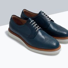 Don't step on my blue Zara Shoes Best Shoes For Men, Men S Shoes, Formal Shoes, Casual Shoes, Mens Boots Fashion, Dream Shoes, Zara Shoes, Luxury Shoes, Dandy