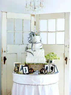 love the doors behind the cake