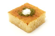 to Make Greek Semolina Cake With Syrup (Revani) - Amber VonHarbut -How to Make Greek Semolina Cake With Syrup (Revani) - Amber VonHarbut - Satisfying drinks to make yours. Basbousa or Semolina Cake – Egyptian/Mediterranean dessert Lebanese Recipes, Turkish Recipes, Greek Recipes, Armenian Recipes, Healthy Family Meals, Healthy Desserts, Just Desserts, Gourmet Desserts, Family Recipes