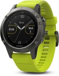Garmin Fenix 5 Multisport GPS Heart Rate Monitor Watch Slate Gray/Amp Yellow Regular