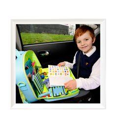 Voyage avec bébé: accessoires nomades multifonctions Valisette jeu voyage voiture Traykit – VOYAGES ET ENFANTS