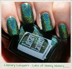 Literary Lacquers Lake of Shining Waters gorgeous holo green!