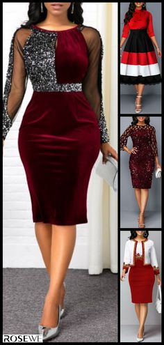 Weve gathered our favorite ideas for Trendy Fashion Sequin Dress Explore our list of popular images of Trendy Sequin Detail Mesh Panel Back Slit Dress Lazy Fall Outfits, Classy Outfits, Slit Dress, Sequin Dress, Elegant Dresses For Women, Nice Dresses, Ideas Dormitorios, Special Occasion Outfits, Women's Fashion Dresses