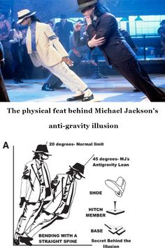 The physical feat behind Michael Jackson's anti-gravity illusion Wierd Facts, Wow Facts, Wtf Fun Facts, Funny Facts, Funny Jokes, Random Facts, Funny Science Jokes, Movie Facts, True Interesting Facts