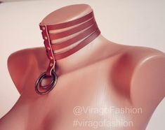 Leather  collar | chocker | posture collar | submissive collar | bdsm day collar | slave collar | pet play |kitten play | fetish