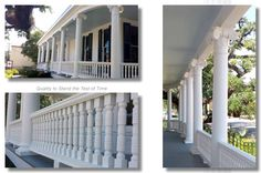 Case Study on the architectural fiberglass columns and balustrade systems for a renovation of the charming James Wade Bolton House in Alexandria, LA.