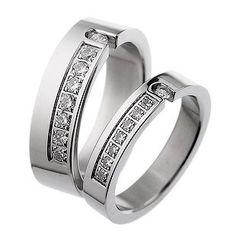 Korean Fashion Titanium Steel Matching 2 Piece Couple Finger Rings