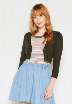 Dream of the Crop Cardigan in Moss, #ModCloth