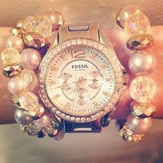 <3 gold watch