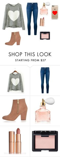 """""""Valentines Day Outfit #3"""" by fionalilylove ❤ liked on Polyvore featuring Frame Denim, River Island, Guerlain, Charlotte Tilbury, NARS Cosmetics and Casetify"""