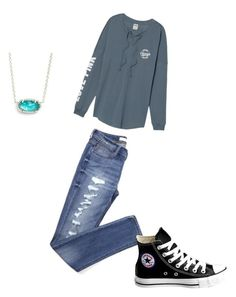 """""""School"""" by luzeteraquel on Polyvore featuring Kendra Scott and Converse"""