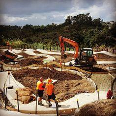 Birkenhead pump track really taking shape #bespokelandscape #birkenheadpumptrack #aucklandcouncil