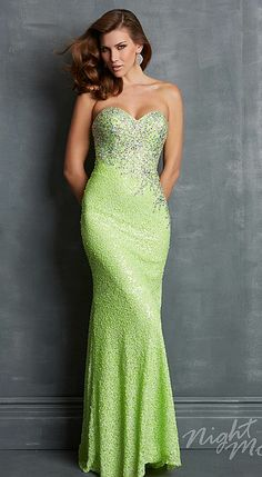 Night Moves 7014 Sequin Gown with Train image