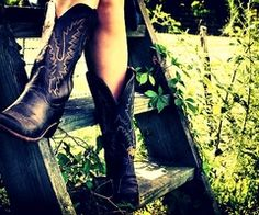 Country girls cant live without their boots.