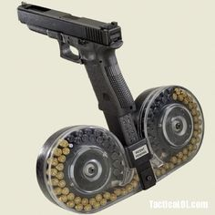 Glock 19 with 100 Round Drum Mag
