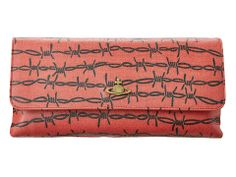 Barbed wire clutch from Vivienne Westwood. #bags #accessories #zappos
