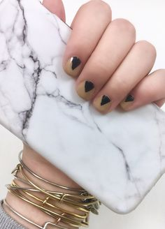 Minimal mani's are all over media lately and I am loving it! Neutral colors with minimal art, or nail tapes with a simple clear top coat. While these looks are amazing, I know that the average woman out there probably doesn't have gold nail tape just lying around. Instead today we take ordinary tape with …