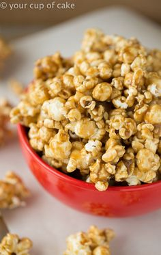 Easy Caramel Corn in the Microwave! It's the soft kind, my favorite! Easy Microwave Caramel Corn