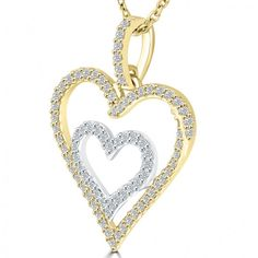 184a18eada76 Search results for   black diamond pendants gold platinum heart 35 carat f  si double pendant necklace in 14k white yellow