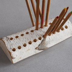 Birch Branch Pencil Holder