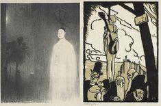 Charles Lucien Léandre, Pierrot Pendu 1936; Edwin Holgate, Pierrot pendu 1923