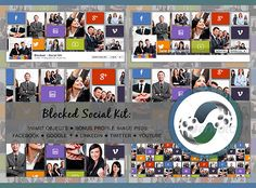 Blocked Social Kit  #GraphicRiver        Blocked Social Kit  This social cover photo kit will get you up and running with Facebook, YouTube, Twitter, LinkedIn and Google +.    7 PSDs  9 Bonus PSDs (for your profile image)  Resolution: 300dpi  RGB  Layered with Smart Objects  Social Icons: Picons Social (free)  Images for preview only  Questions? Need support?  Please feel free to email me via my user page contact form or post your questions/suggestions in the comment section…