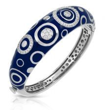 DeScenza Diamonds - BELLE ETOILE BRACELET from the Galaxy collection in sterling silver with deep blue enamel and CZs