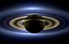 In the shadow of Saturn, unexpected wonders appear. The robotic Cassini spacecraft now orbiting Saturn drifted in giant planet's shadow earlier this year and looked back toward the eclipsed Sun. Cassini saw a unique and celebrated view