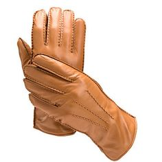 Men's Cashmere Lined Leather Gloves in Tan - Aspinal of London