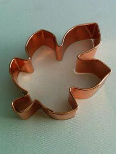 "Wilton 5 1/2"" Copper Cookie Cutter  Leaf - NEW #Wilton"