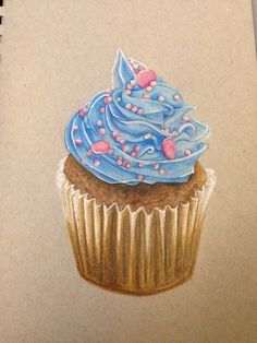 Cupcake drawing! Also available on society6 search Allana Vazquez