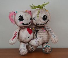 So cute! Voodoo dolls pattern by Vanja Grundmann