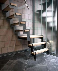 Metal Stairs that save time, grant and eliminate custom fabrication. In stock, ready to ship. metal stairs, steps, metal take steps platforms and portable stairs. Steel Stairs, Loft Stairs, House Stairs, Interior Stair Railing, Staircase Design, Staircase Ideas, Escalier Design, Modern Stairs, Interior Design