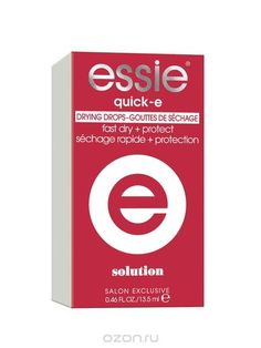 "Essie Капли для быстрой сушки лака для ногтей ""Quick-e"", 13,5 мл - купить, цена essie капли для быстрой сушки лака для ногтей ""quick-e"", 13,5 мл в каталоге Декоративная косметика от интернет-магазина OZON.ru"
