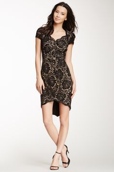 Cynthia Steffe Allie Lace Cap Sleeve Dress