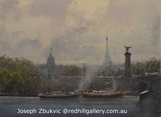 Joseph Zbukvic - Paris Skyline 72 x 52 Paris Skyline, Art Gallery, Artist Painting, Joseph Zbukvic, Joseph, Art, Watercolor Landscape, Watercolour Inspiration, Water Painting