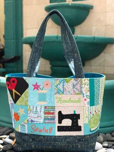 Naaien Tote Bag in de hoepel machine borduurwerk ontwerp 4x4, Sewing Hacks, Sewing Tutorials, Sewing Tips, Leftover Fabric, Love Sewing, Sewing Projects For Beginners, Sewing Patterns Free, Sewing Paterns