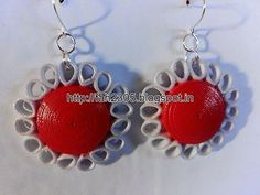 Handmade Jewelry - Paper Quilling Dome Flower Earrings