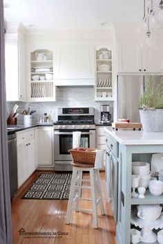Kitchen Makeover on a budget - Painted oak cabinets